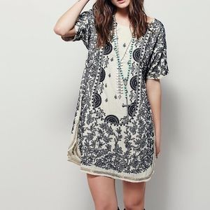 Free People Embroidered Mini Dress Size XS